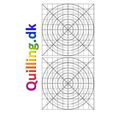 Skabelon med 2 grids