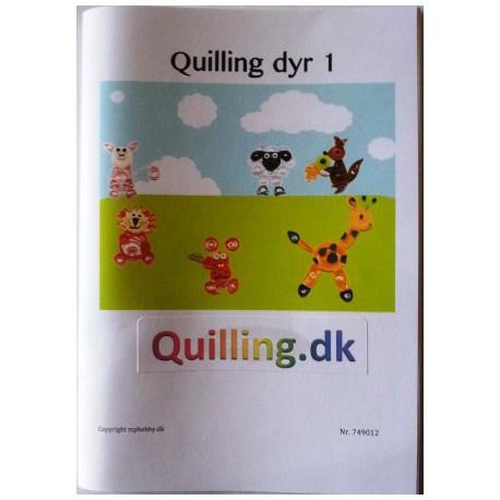 Quilling hæfte med dyr